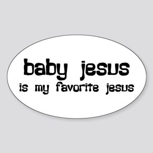 """Baby Jesus"" Oval Sticker"