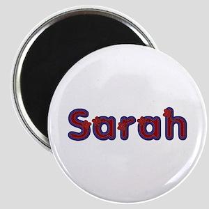 Sarah Red Caps Round Magnet