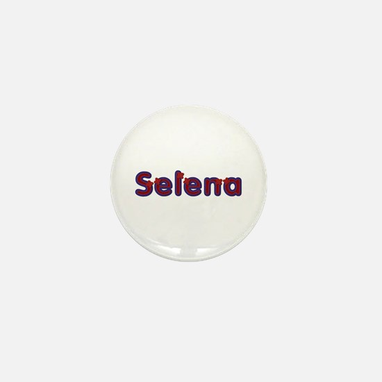 Selena Red Caps Mini Button