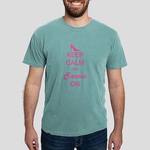 SATC: Keep Calm and Carr Mens Comfort Colors Shirt