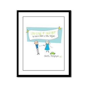 Hold a Hand Framed Panel Print