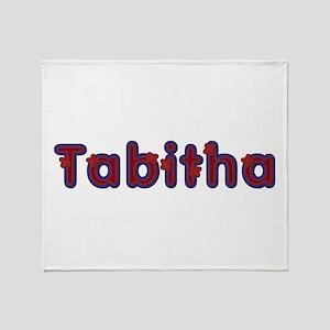 Tabitha Red Caps Throw Blanket