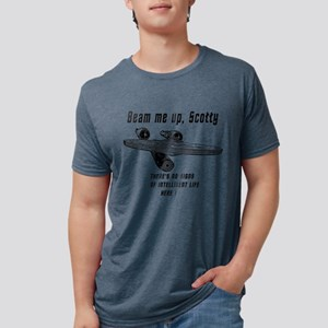 Beam me up Scotty theres no Mens Tri-blend T-Shirt