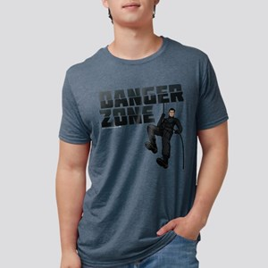 Archer Danger Zone Dark Mens Tri-blend T-Shirt