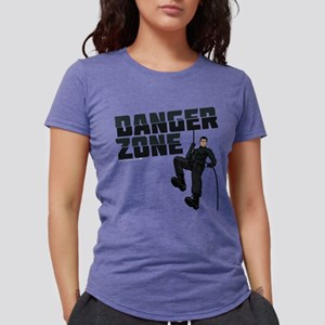 Archer Danger Zone Dark Womens Tri-blend T-Shirt
