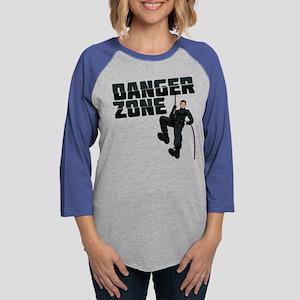 Archer Danger Zone Dark Womens Baseball Tee