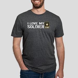 U.S. Army: I Love My Soldie Mens Tri-blend T-Shirt
