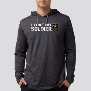 U.S. Army: I Love My Soldier Mens Hooded Shirt