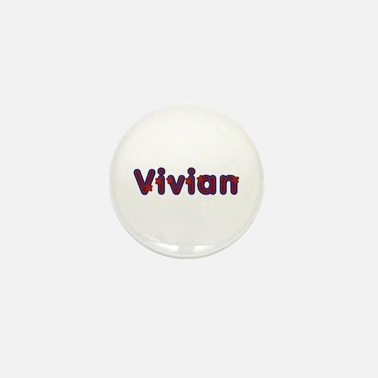 Vivian Red Caps Mini Button
