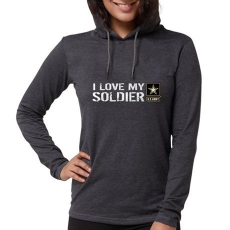 U.S. Army: I Love My Soldier Womens Hooded Shirt
