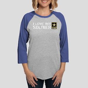 U.S. Army: I Love My Soldier Womens Baseball Tee