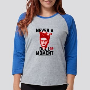 Lucy Never a Dull Moment Womens Baseball Tee