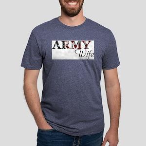 Wife Army_flag  Mens Tri-blend T-Shirt