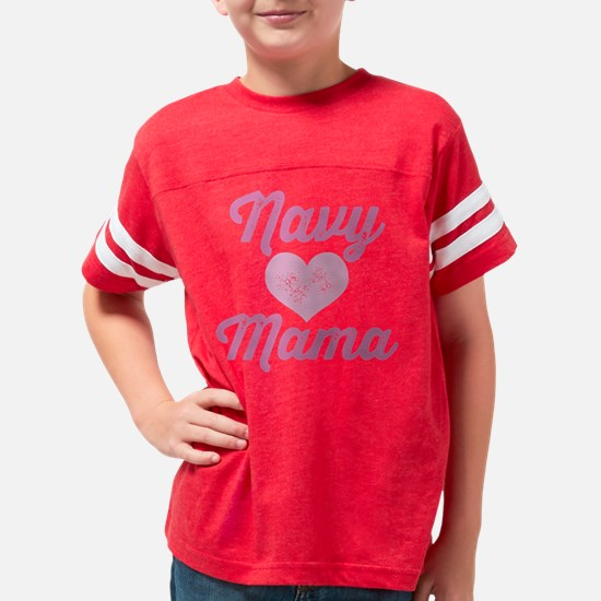 Navy Mama Pride Youth Football Shirt