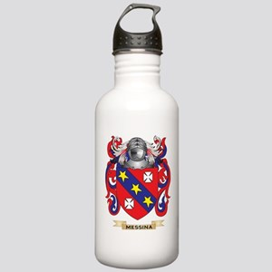 Messina Coat of Arms - Family Crest Water Bottle