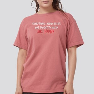 Mr. Feeny Taught Me Womens Comfort Colors Shirt