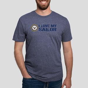 U.S. Navy: I Love My Sailor Mens Tri-blend T-Shirt