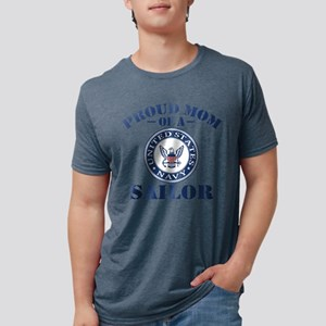 Proud US Navy Mom Mens Tri-blend T-Shirt