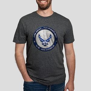 USAF Motto Aim High Mens Tri-blend T-Shirt