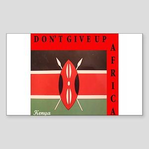 GOING Kenya RED Rectangle Sticker