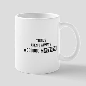 #000000 and #FFFFFF Mug