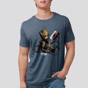 GOTG Groot Cassette Mens Tri-blend T-Shirt