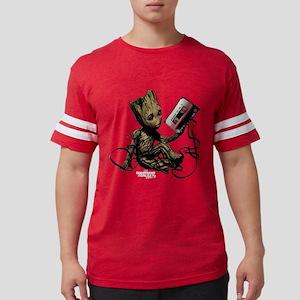 GOTG Groot Cassette Mens Football Shirt