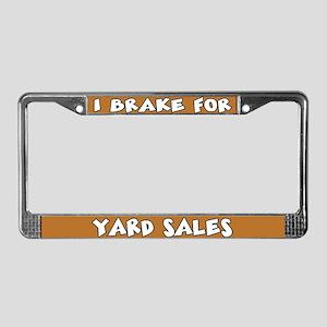 Yard Sales License Plate Frame