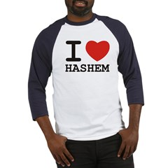 I Heart Hashem Baseball Jersey