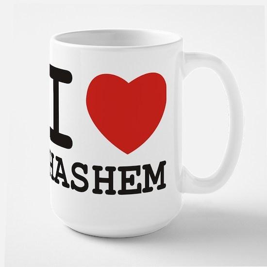 I Heart Hashem Large Mug