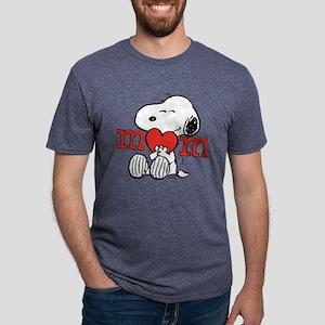 Snoopy Mom Hug Mens Tri-blend T-Shirt