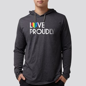 Queer as Folk: Love Proudly Dark Mens Hooded Shirt