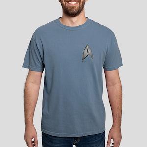 STAR TREK Logo silver Mens Comfort Colors Shirt