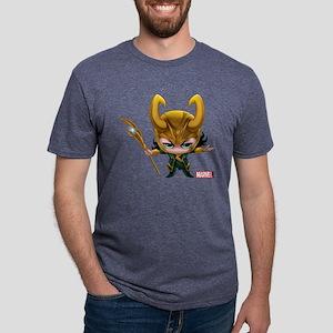 Chibi Loki Mens Tri-blend T-Shirt