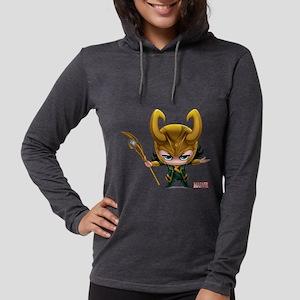 Chibi Loki Womens Hooded Shirt