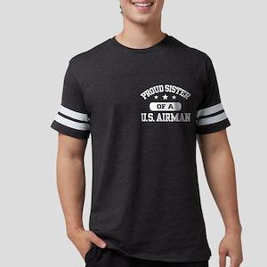 Proud Sister Airman Mens Football Shirt