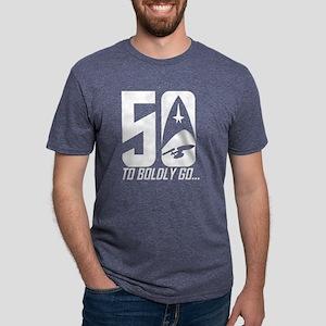 Star Trek 50 Years to Boldl Mens Tri-blend T-Shirt