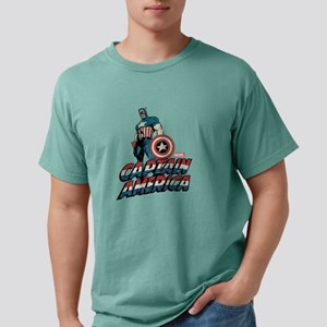 Captain America Classic  Mens Comfort Colors Shirt
