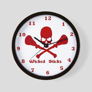 Lacrosse Wicked Sticks Wall Clock