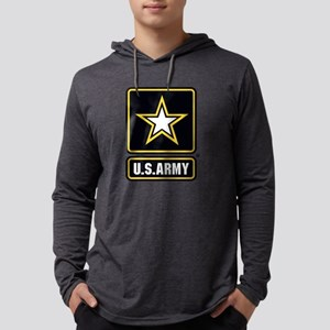 U.S. Army Gold Star Logo Mens Hooded Shirt
