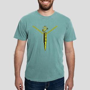 blk_cafe_USMC_hog_pendan Mens Comfort Colors Shirt