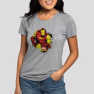 Iron Man Paint Splatter Womens Tri-blend T-Shirt