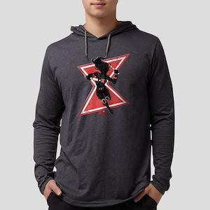 Black Widow Dark Silhouette Mens Hooded Shirt
