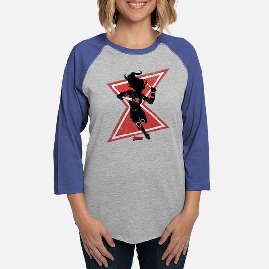 Black Widow Dark Silhouette Womens Baseball Tee