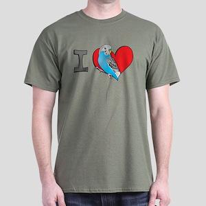 I heart parakeets Dark T-Shirt