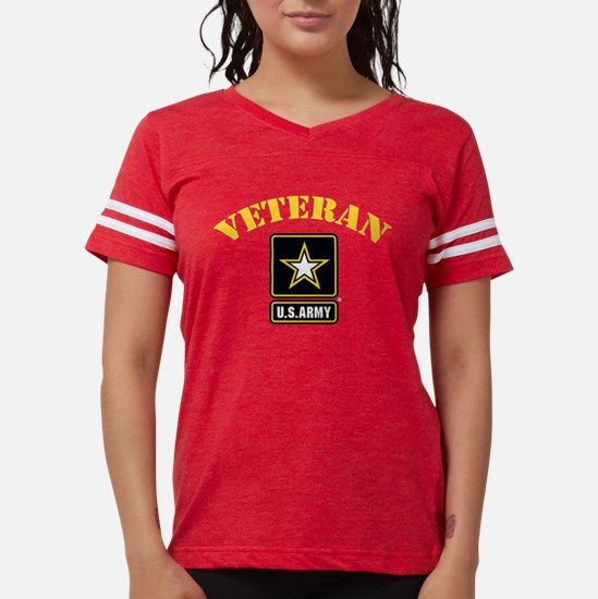 Funny Retired army Womens Football Shirt