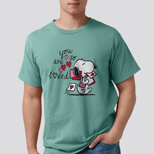 Snoopy - You Are So Love Mens Comfort Colors Shirt