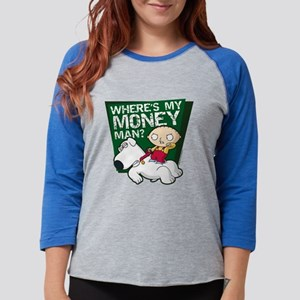 Family Guy My Money Light Womens Baseball Tee