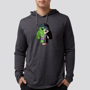 Chibi Hulk Half-and-Half Mens Hooded Shirt