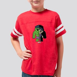 Chibi Hulk Half-and-Half Youth Football Shirt